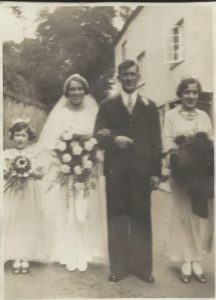 Doris and Percy Back Wedding 26th September 1935