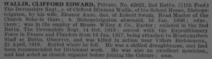 Obituary Clifford E Wallis