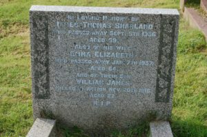 Sharland headstone Bovey Tracey