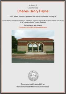 Charles H Payne memorial