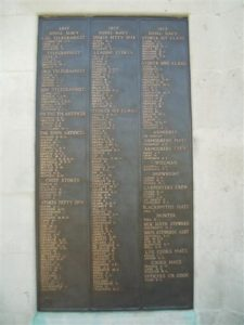 Plymouth Naval Memorial Panel