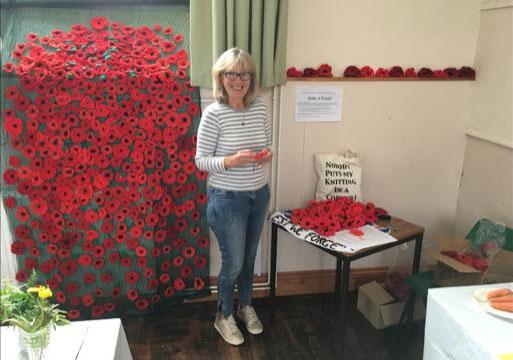 Poppy organiser Caroline