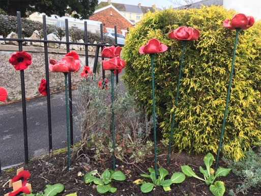 Ceramic poppies Fore St
