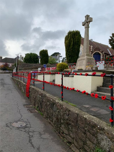 Memorial Poppies Bishopsteignton