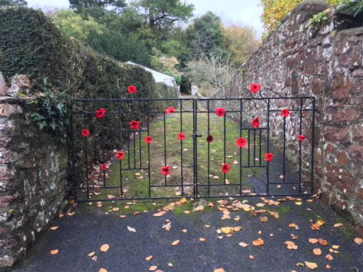 Poppies WW1 Commemoration Bishopsteignton