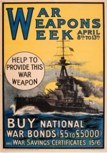 Poster to promote War Weapons Week 1918