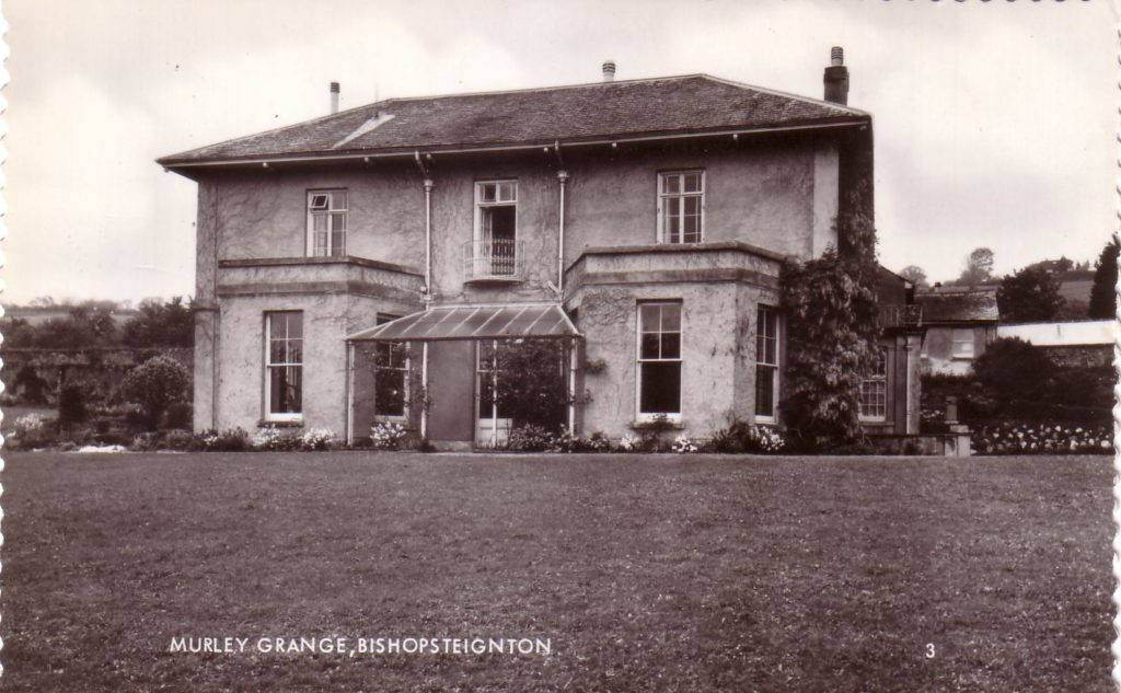 A Black and White photograph of Murley Grange, Bishopsteignton, formerly The Lodge