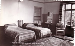 Black and white photograph of Bedroom Murley Grange, Bishopsteignton
