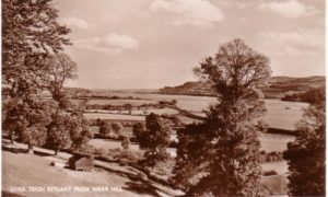 SEpia photograph of River Teign Estuary from Wear Hill