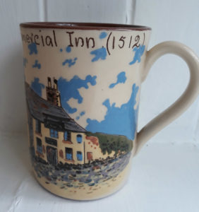 Devon Pottery The Old Commercial Inn mug front