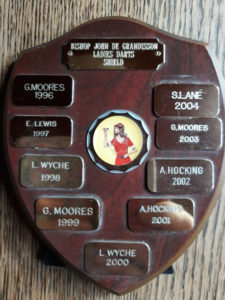 Bishop John de Grandisson Ladies Darts Sheild - 1996 to 2004