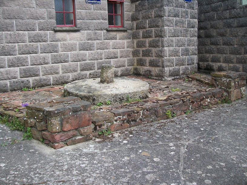 2010 Colour photographs showing mill stone outside the site of Fore Street Forge.