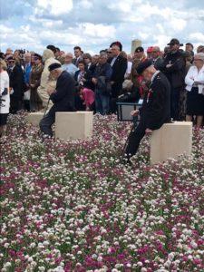 WW2 veterans at the Jardin de la Mémoire