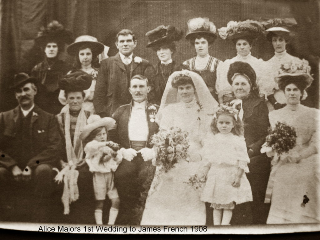Alice Major wedding to James French 1908