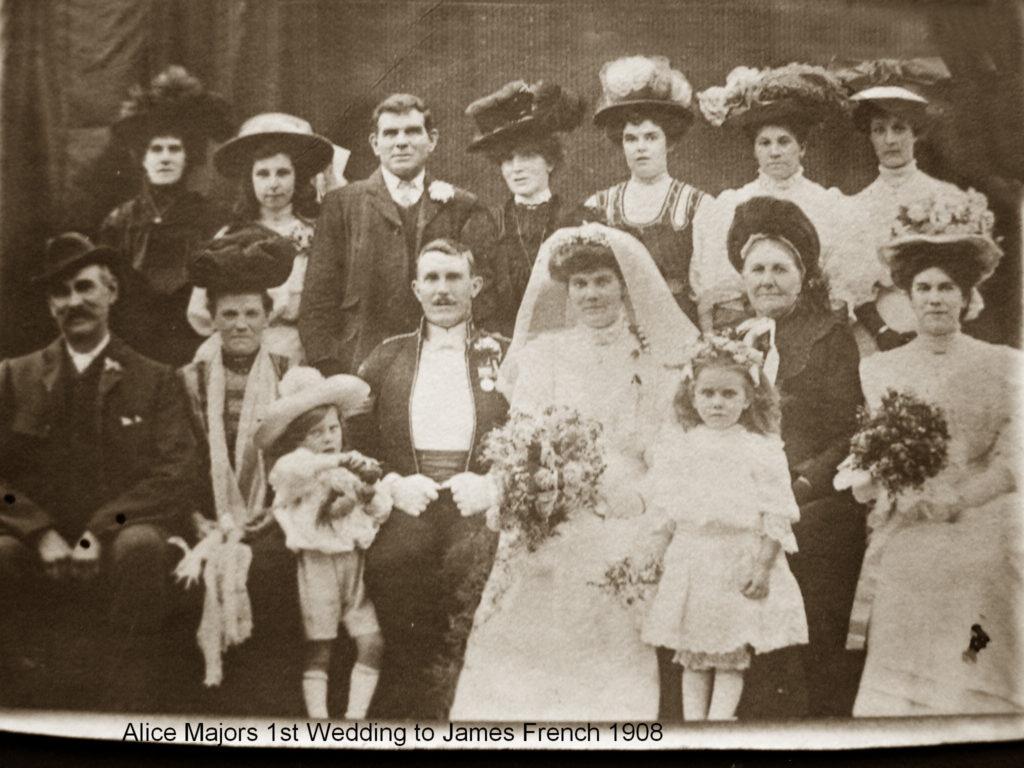 Alice Major wedding to James French 1908