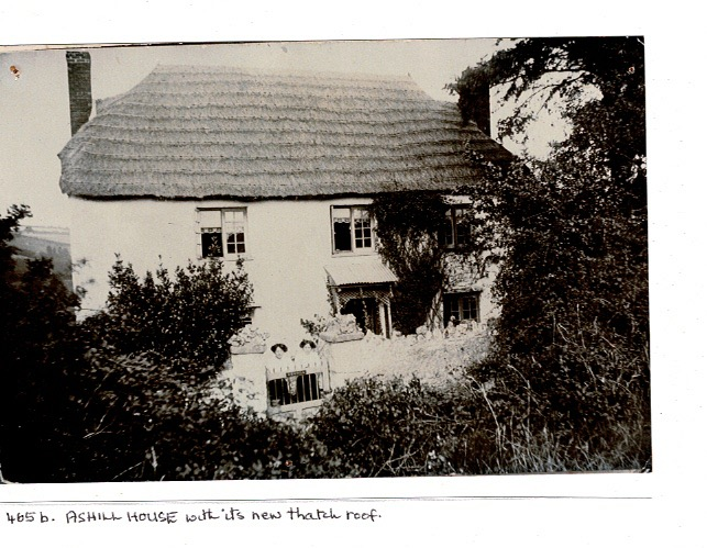 Ashill House with old Thatched roof 1906