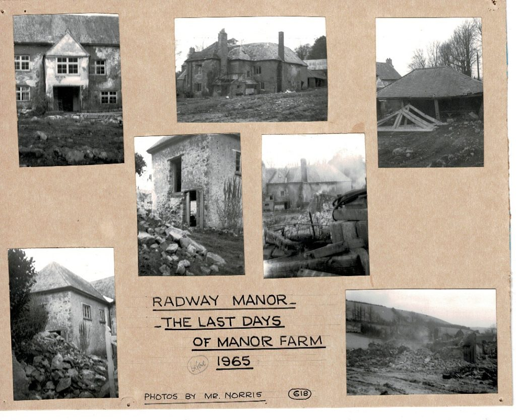 Destruction of Radway Manor to make way for Grandisson Avenue Bishopsteignton, 1965