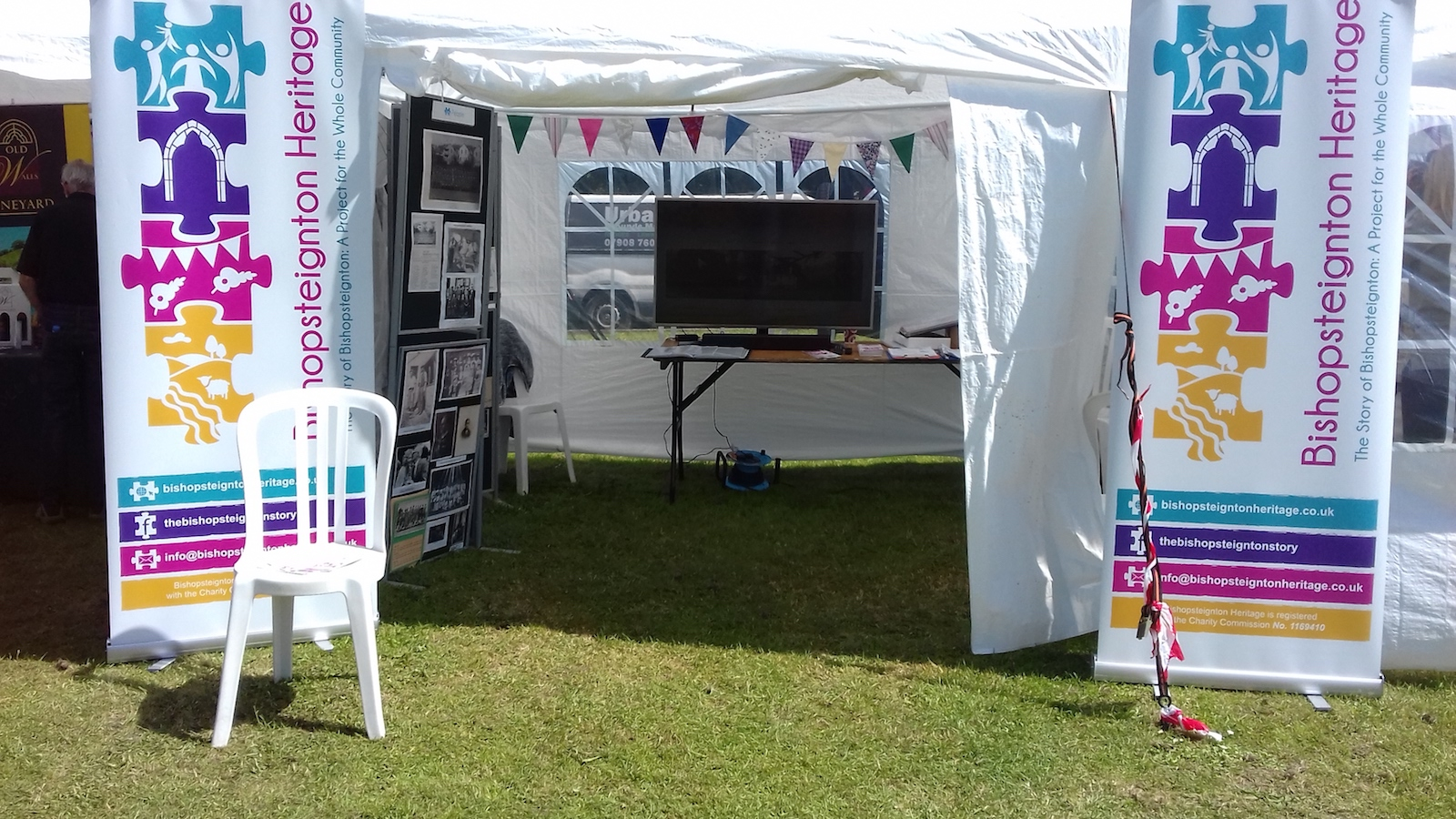 Bishopsteignton Heritage festival tent