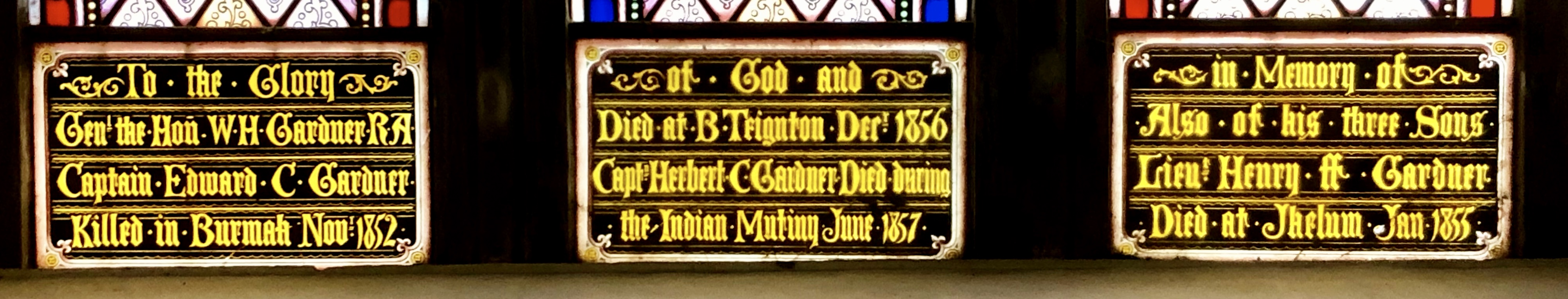 Dedication on Memorial Window,Bishopsteignton Church