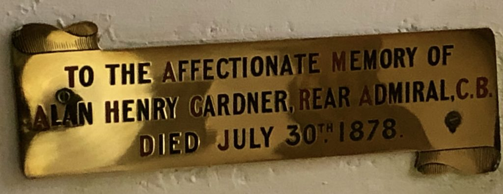 Brass Plaque to Alan Henry Gardner, Bishopsteignton Church