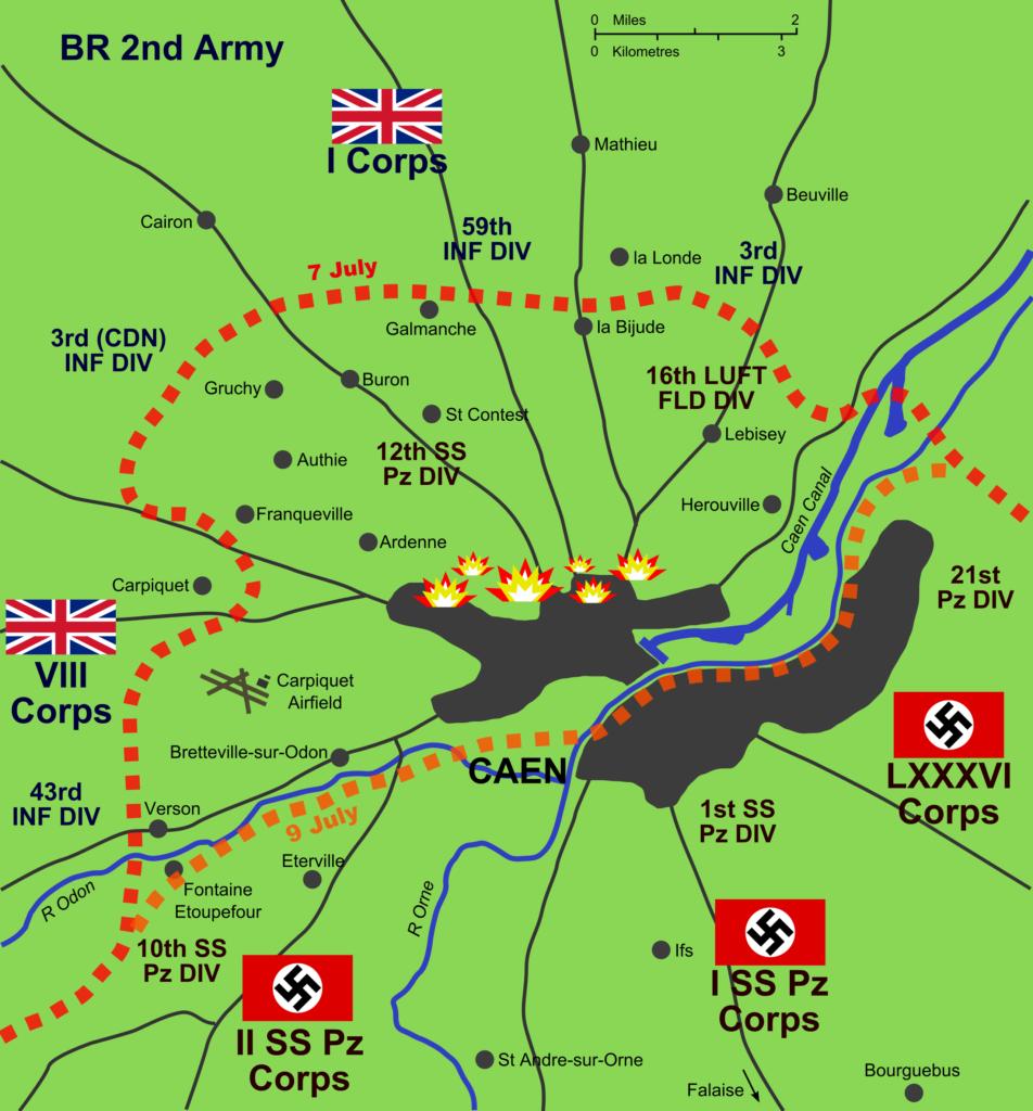 Battle Caen 1944
