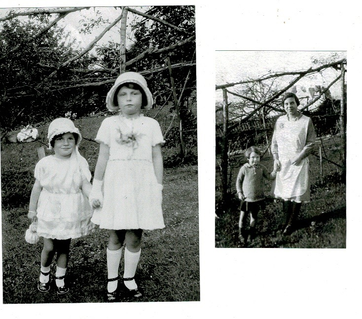 Betty and Margaret Quantick at Edith & Fred's wedding 1933, and Edith with Betty
