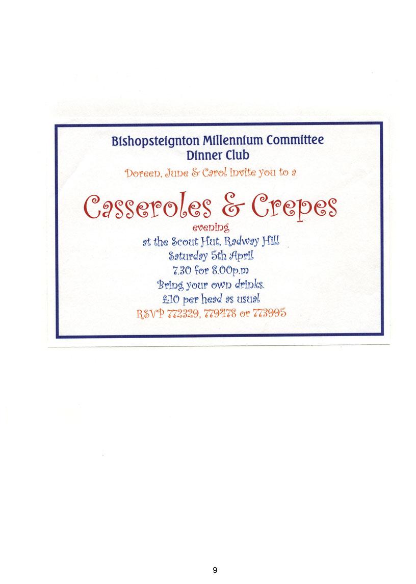 Bishopsteignton Millennium Book 11