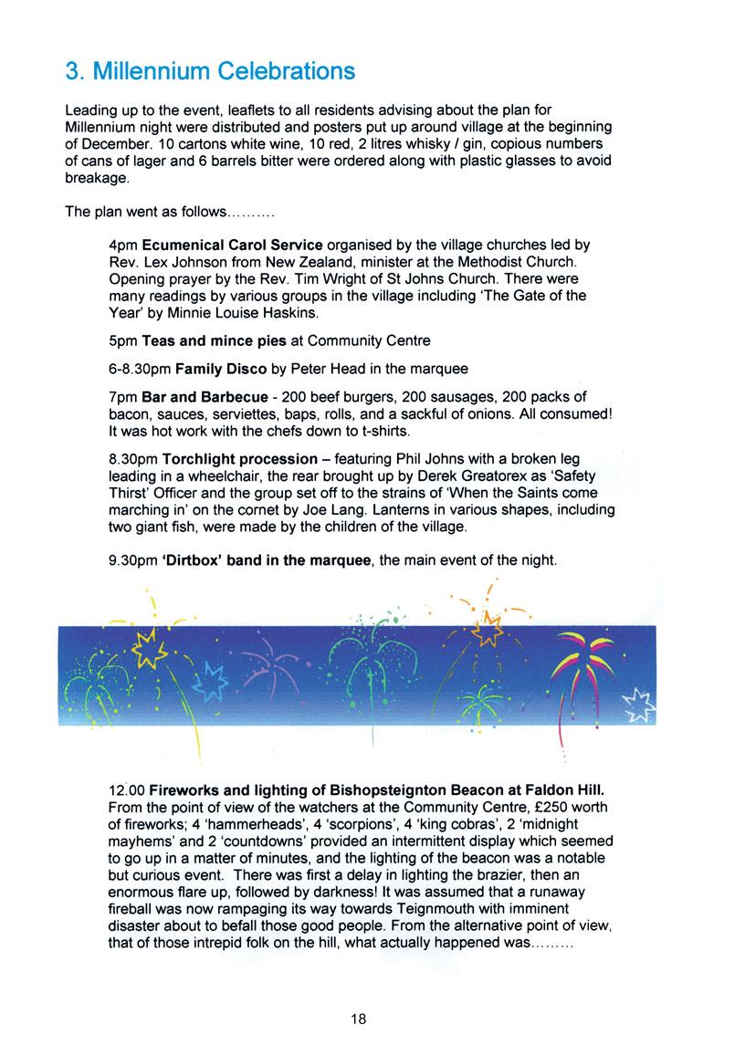Bishopsteignton Millennium Book 20