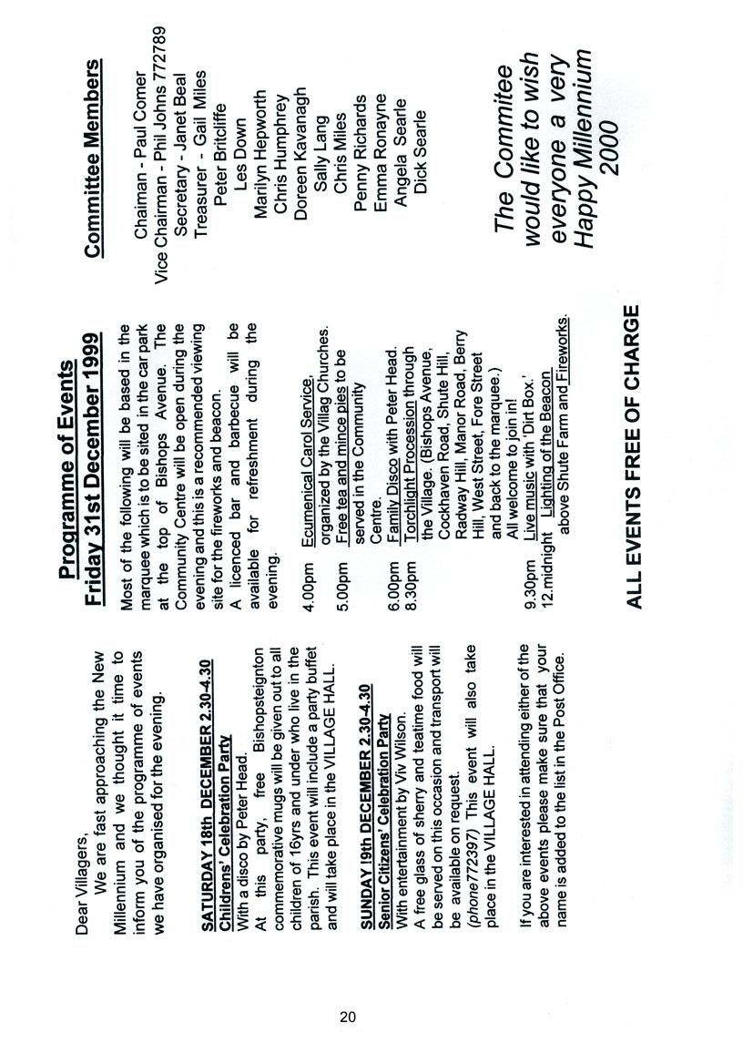 Bishopsteignton Millennium Book 22