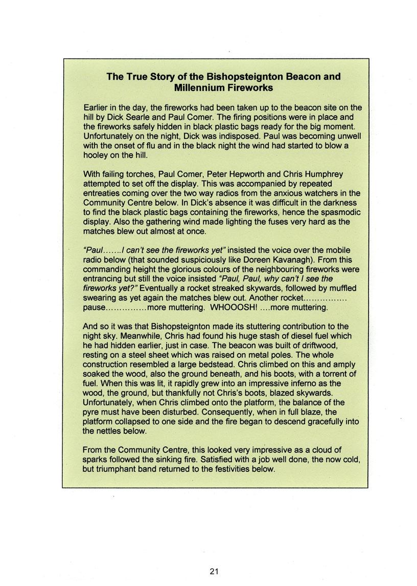 Bishopsteignton Millennium Book 23
