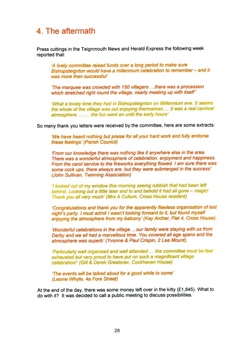 Bishopsteignton Millennium Book 30