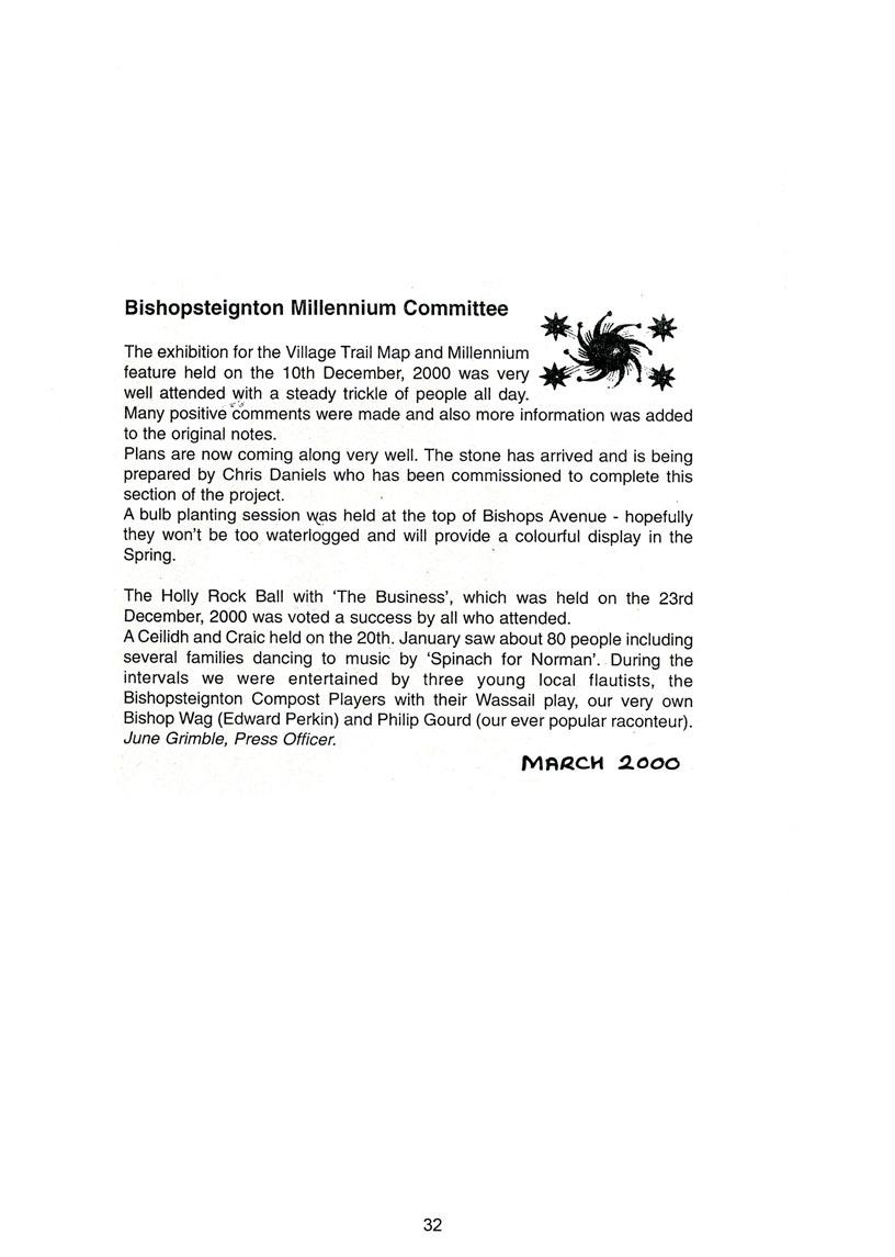 Bishopsteignton Millennium Book 34