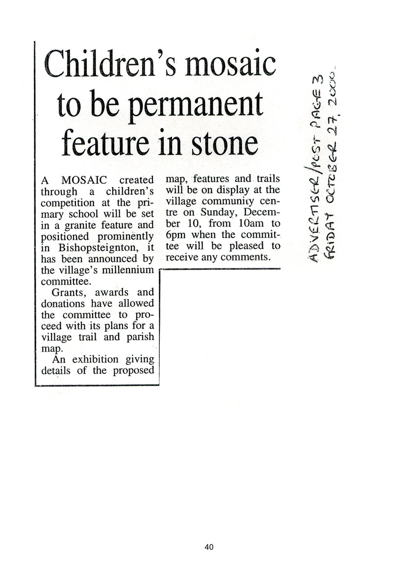 Newspaper article about the Millenium Project
