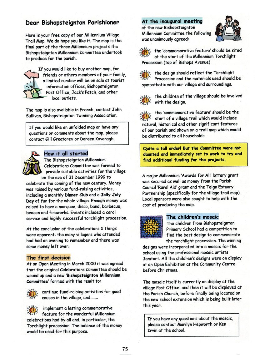 Bishopsteignton Millennium Book 77