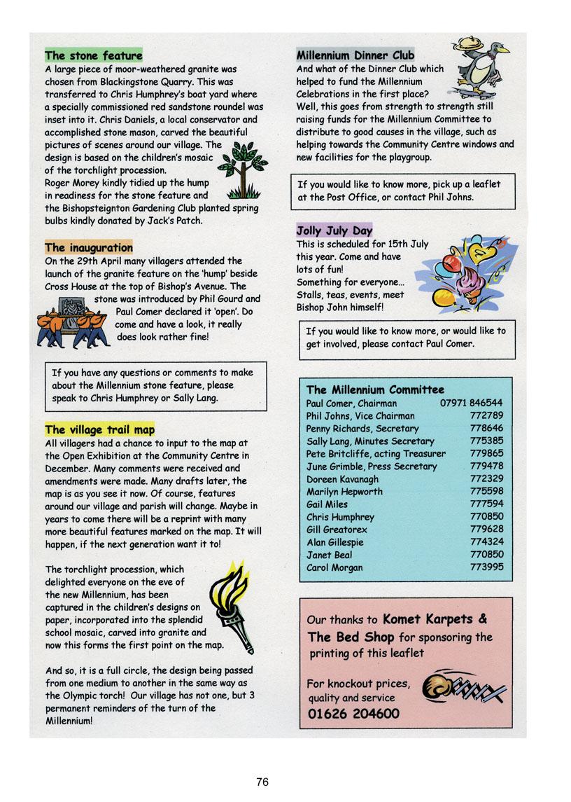 Bishopsteignton Millennium Book 78