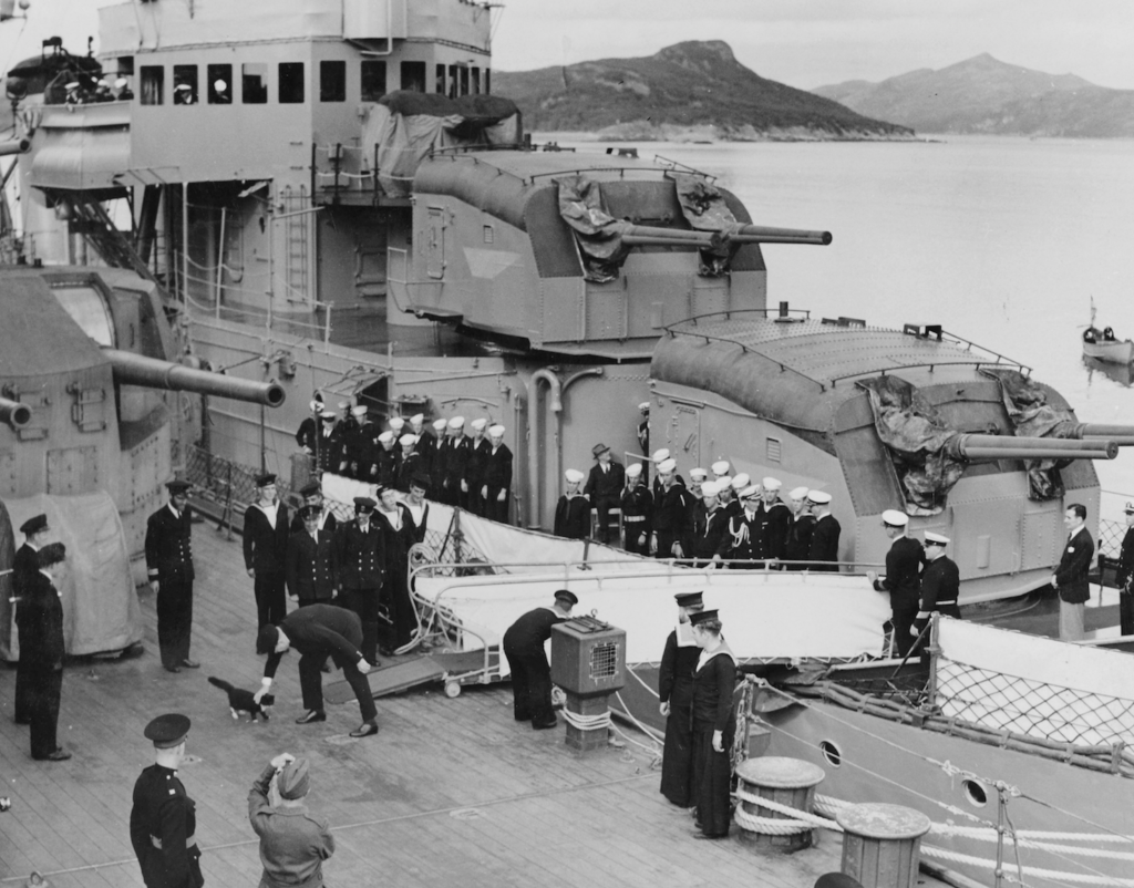 Churchill on HMS Prince of Wales