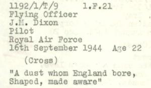 Dixon Grave Detail