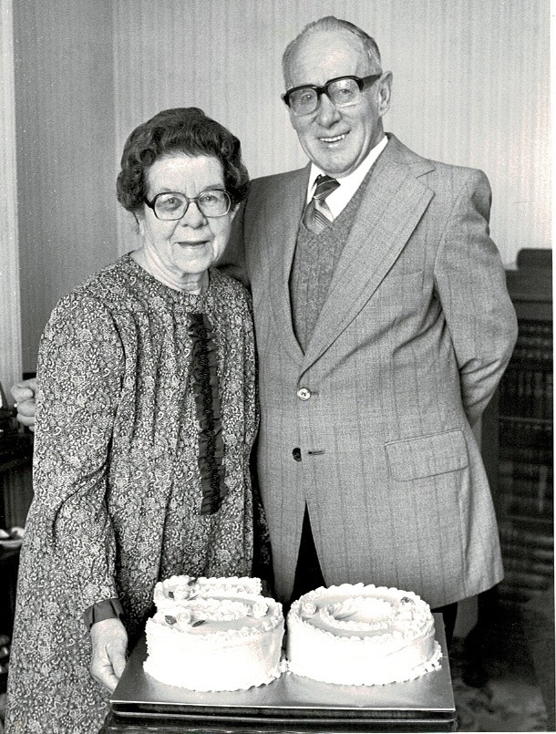 Edith and Fred Quantick Golden Wedding 1983