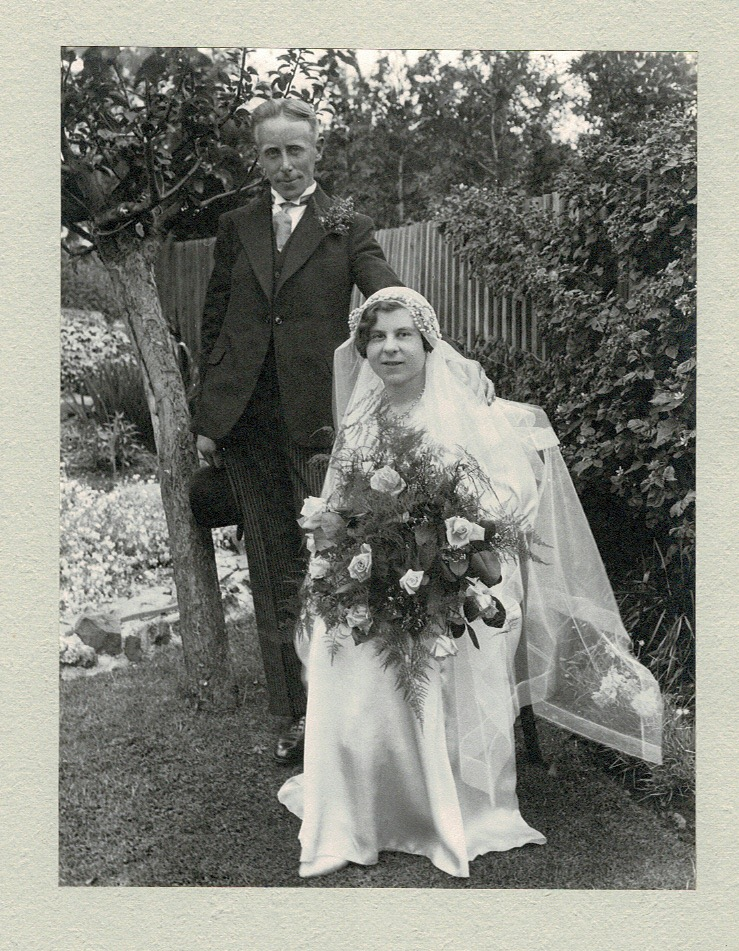 Edith and Fred Quantick on their wedding day