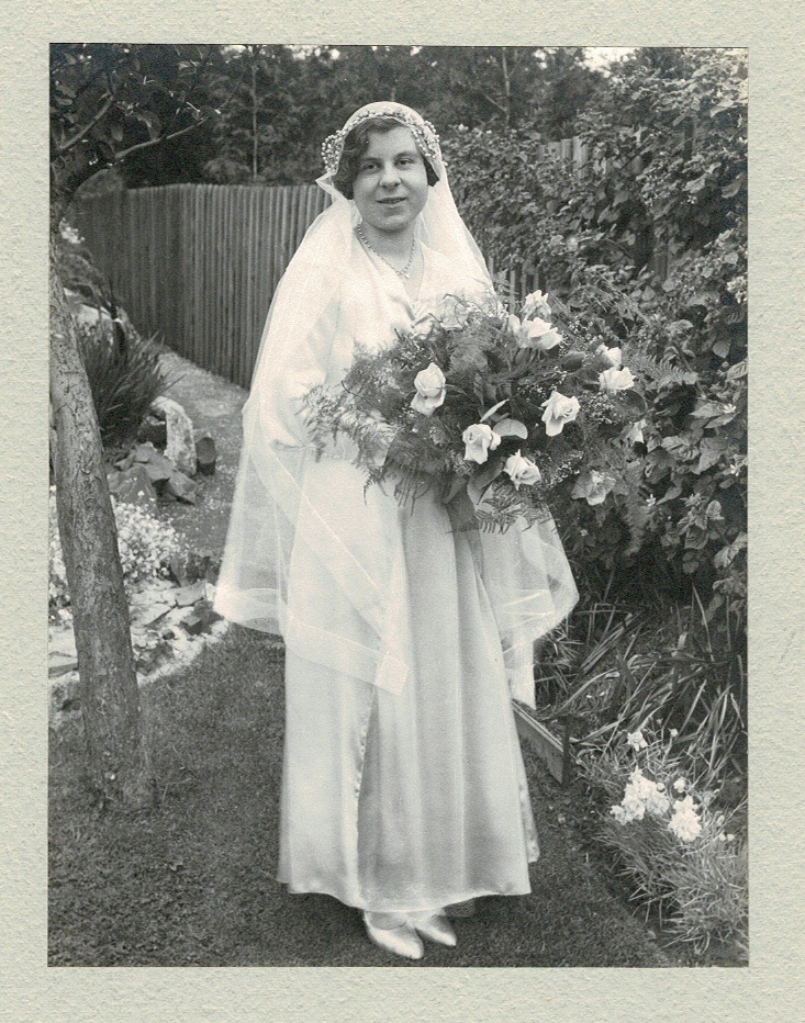 Edith Quantick on her wedding day