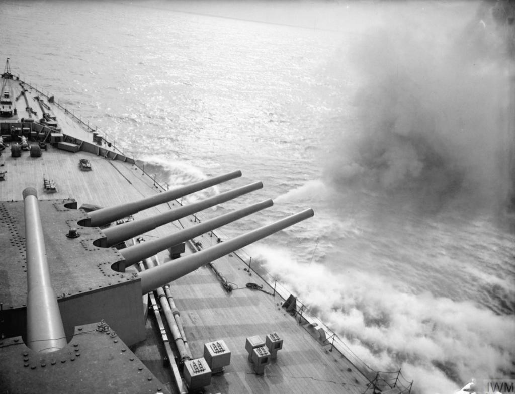 Guns On Deck HMS Prince of Wales