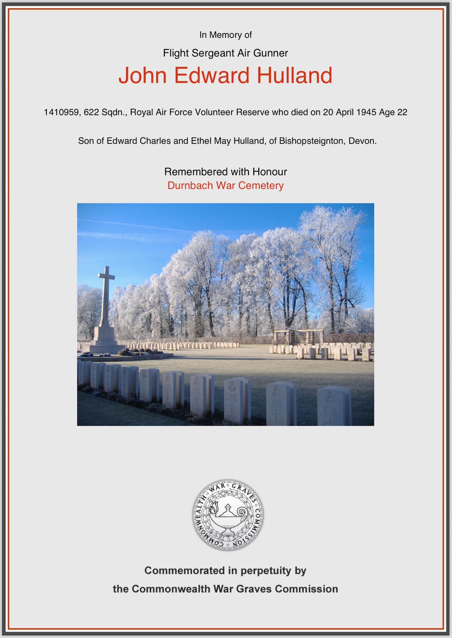 Hulland Memorial