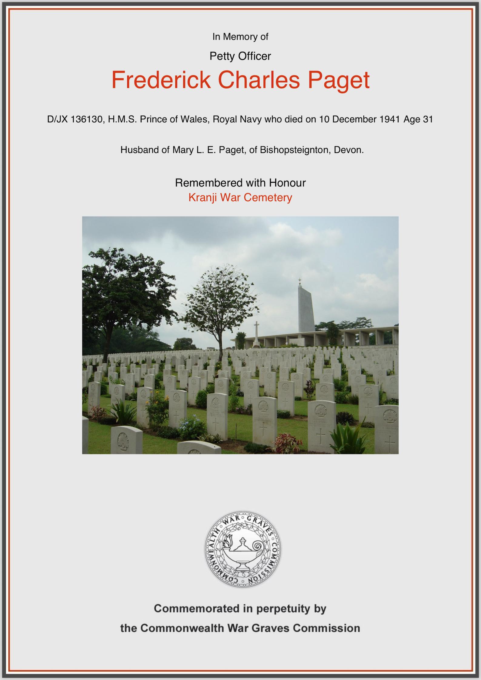 Paget Memorial