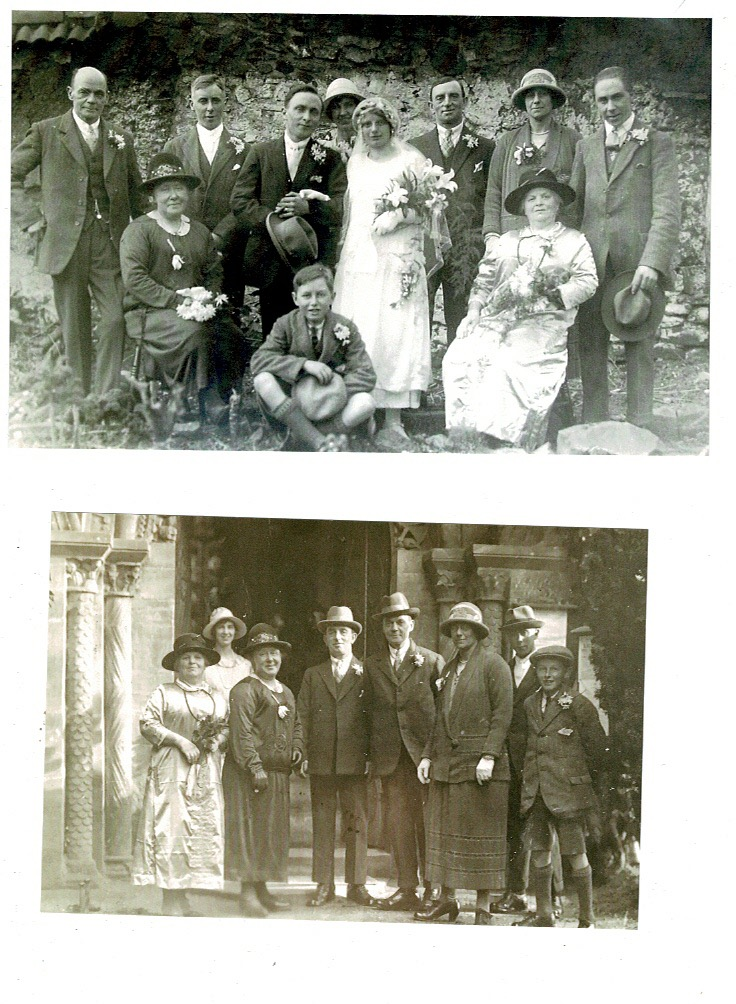 Wilfred Quantick and Gladys wedding 1926