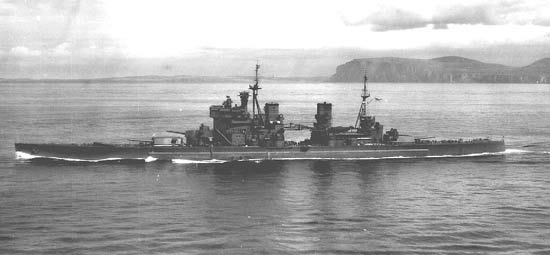 HMS Prince of Wales in open water