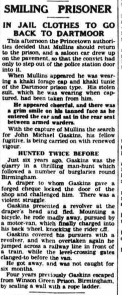 Gaskin recapture Daily Herald - Monday 09 February 1931