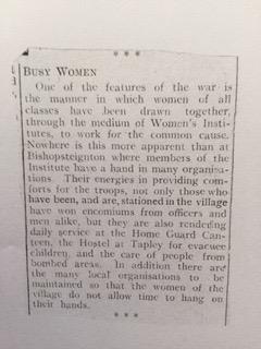 WI newspaper cutting 1940