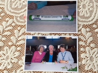 June Plunkett, Venice James and Glenys Evans at the 2015 National Federation of Women's Institutes Annual Meeting