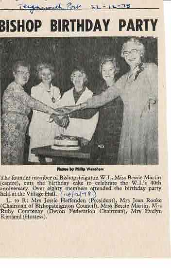 WI 40th Anniversary party 1978