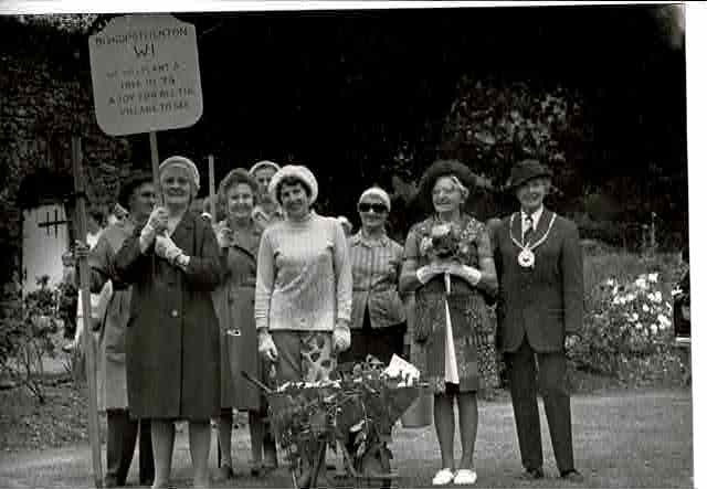 WI entry for Church Fete 1973